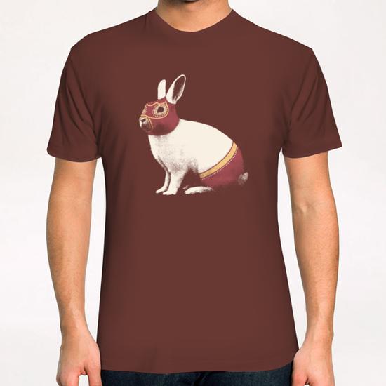Lapin Catcheur (Rabbit Wrestler) T-Shirt by Florent Bodart - Speakerine