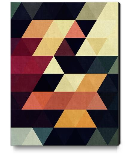 Pattern cosmic triangles Canvas Print by Vitor Costa