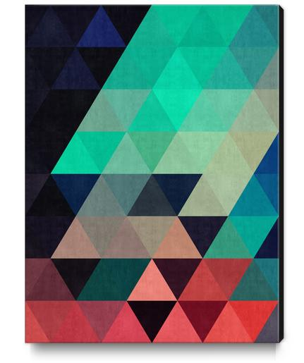 Pattern cosmic triangles I Canvas Print by Vitor Costa