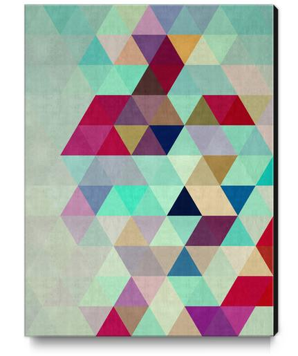 Pattern cosmic triangles II Canvas Print by Vitor Costa