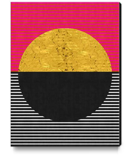 Geometric and golden art Canvas Print by Vitor Costa