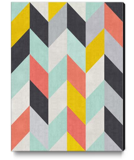 Geometric and colorful chevron I Canvas Print by Vitor Costa