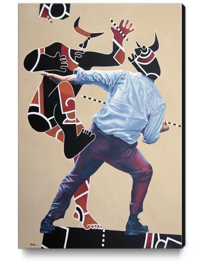 Controverse Canvas Print by Manuel Martinez