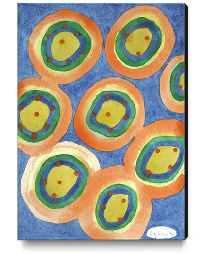 Merry Circles arranged  to a big Circle  Canvas Print by Heidi Capitaine