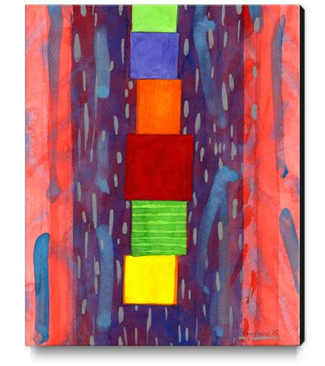 Colorful piled Cubes within free Painting Canvas Print by Heidi Capitaine