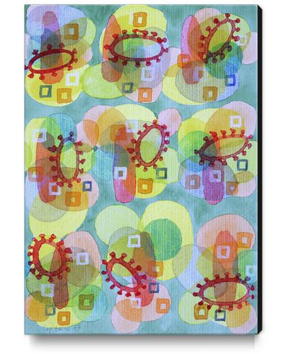Lovely Pattern with Red Rings  Canvas Print by Heidi Capitaine