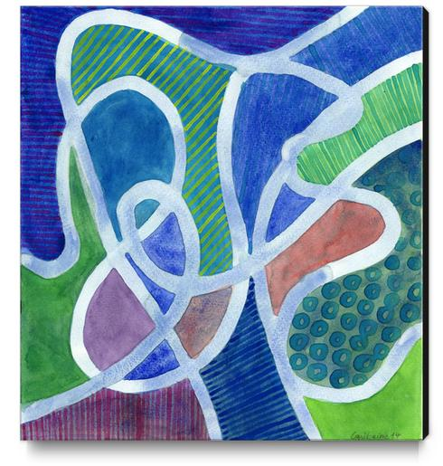 Curved Paths Canvas Print by Heidi Capitaine