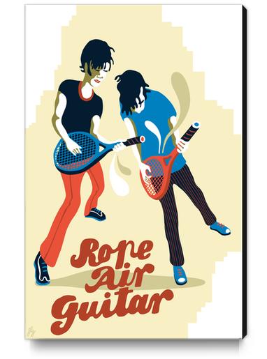 ROPE AIR GUITAR Canvas Print by Francis le Gaucher
