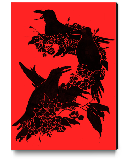 A Feast For Crows Canvas Print by Tobias Fonseca