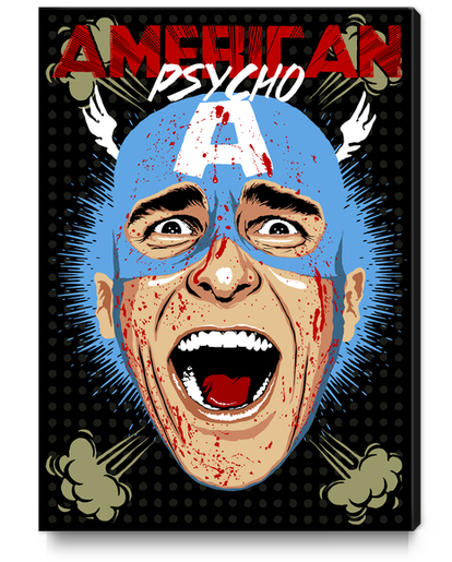 Captain Psycho Canvas Print by Butcher Billy