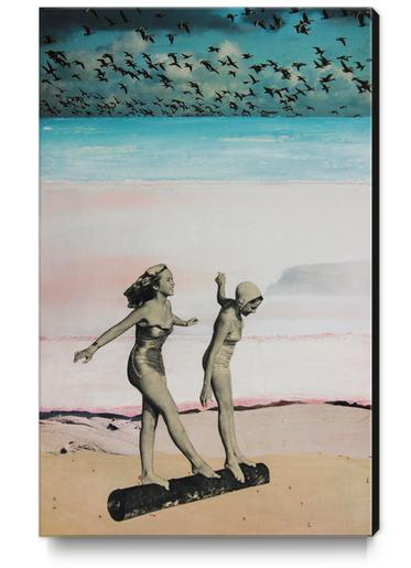 BEACH GIRLS Canvas Print by db Waterman