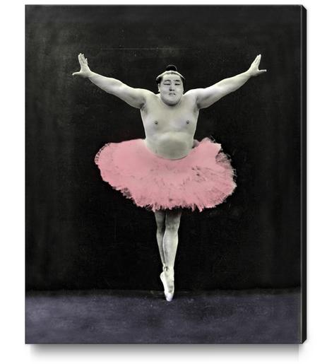 Sumo Ballet Canvas Print by tzigone