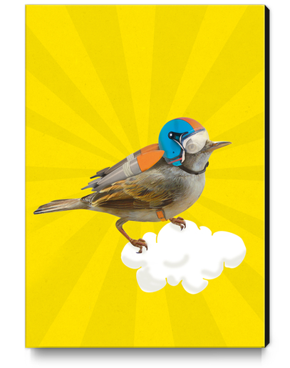 Rocket Bird Canvas Print by tzigone