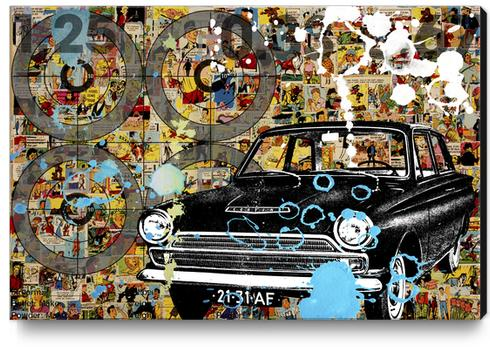 COMICS Canvas Print by db Waterman