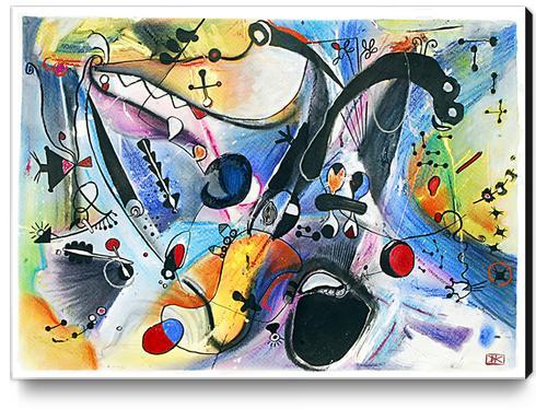 Joyeux paysage Canvas Print by Denis Chobelet
