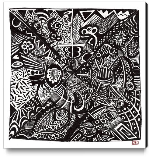 Mandala personnel Canvas Print by Denis Chobelet