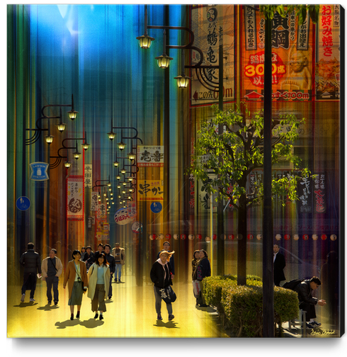 Déambulation - Osaka- Japan #0740 Canvas Print by Denis Chobelet