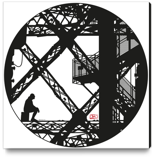 Eiffel tower #4 Canvas Print by Denis Chobelet
