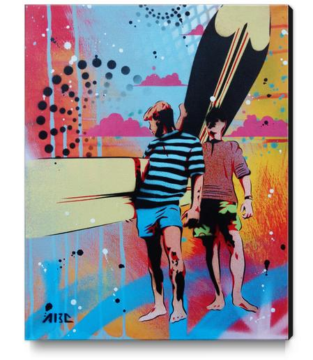 Surf Style- Endless Summer Canvas Print by AbcArtAttack