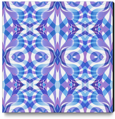 Floral Geometric Abstract G288 Canvas Print by MedusArt