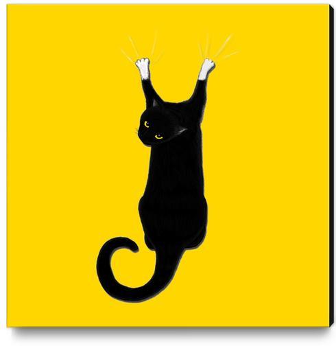 Hang Cat Canvas Print by Tummeow