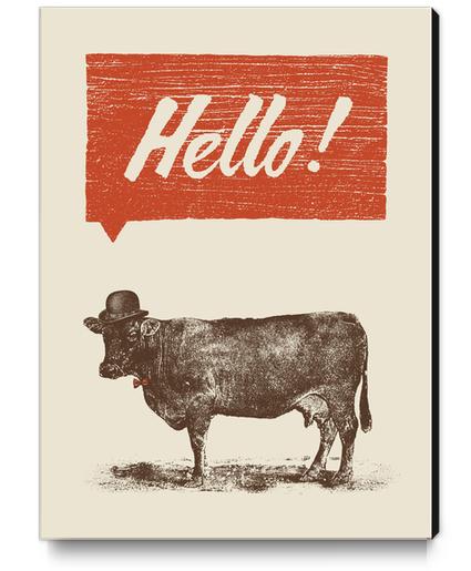 Hello! Canvas Print by Florent Bodart - Speakerine