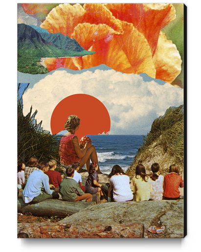 I licked your skin and it tasted like summer Canvas Print by lacabezaenlasnubes