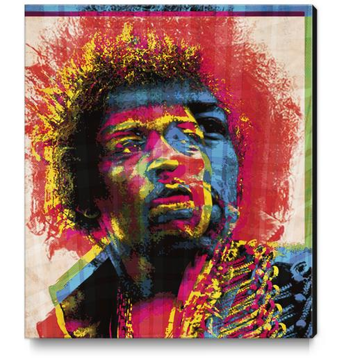 Jimi Canvas Print by Malixx