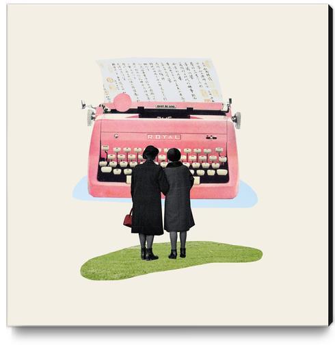 Typewriter Canvas Print by Oleg Borodin