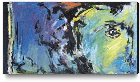 Lion Diptych - Left Canvas Print by Georgio Fabrello