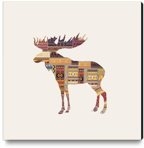 Elk Canvas Print by Oleg Borodin