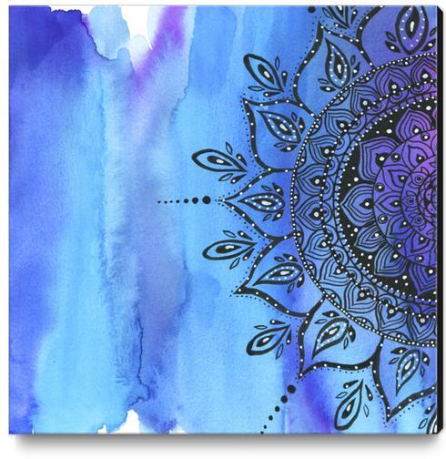 Blue Mandala Canvas Print by Li Zamperini