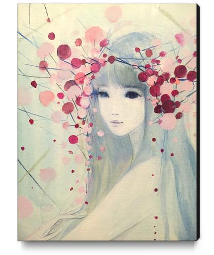 heavenly bamboo  / ナンテン  Canvas Print by Ai Natori