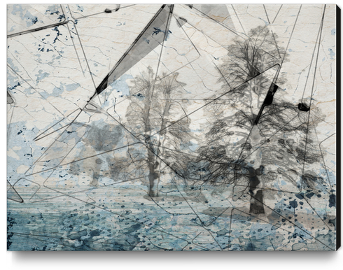 Blue Crystal Forest Canvas Print by Irena Orlov