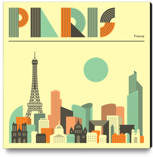 PARIS Canvas Print by Jazzberry Blue
