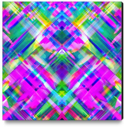 Colorful digital art splashing G469 Canvas Print by MedusArt