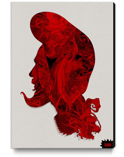 RED DRAGON Canvas Print by sagi.art
