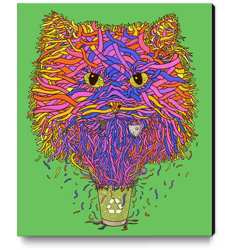 Recycle cat Canvas Print by Tummeow
