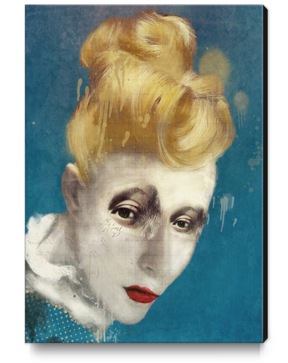 Selfish Jean Canvas Print by Sarah Jarrett Art