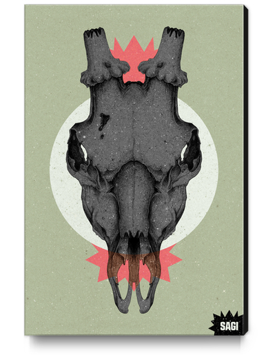 SKULL Canvas Print by sagi.art