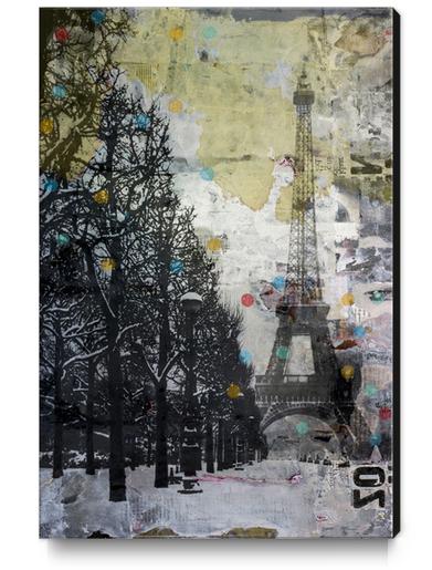 SNOW IN PARIS Canvas Print by db Waterman