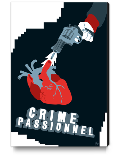 CRIME OF PASSION Canvas Print by Francis le Gaucher