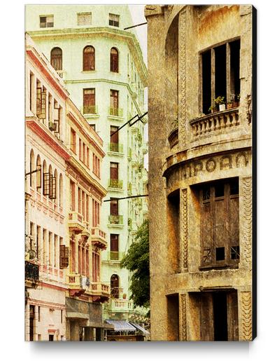 Street In Cuba Canvas Print by fauremypics