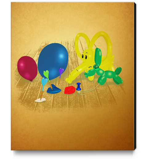 Party Balloons Canvas Print by dEMOnyo
