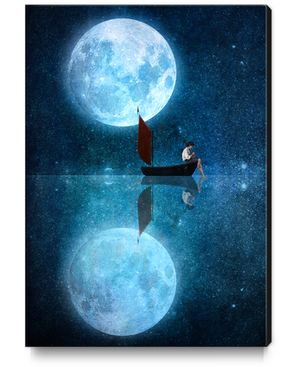 The Moon And Me Canvas Print by DVerissimo