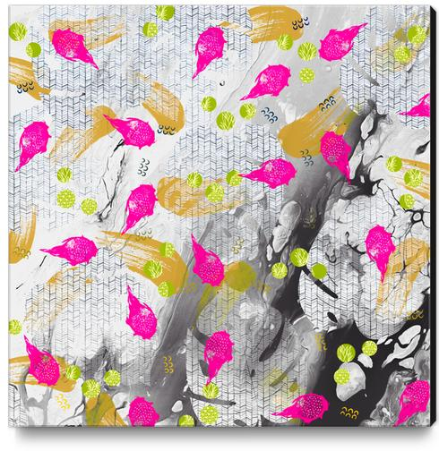 Tropical marble abstract Canvas Print by mmartabc