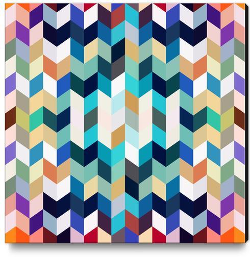 Colorful Geometric Background Canvas Print by Amir Faysal