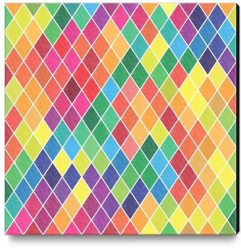 Colorful Geometric  Canvas Print by Amir Faysal