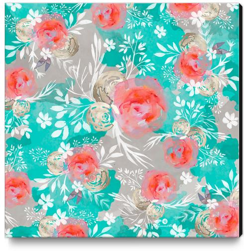 Watercolor Flourish Canvas Print by mmartabc