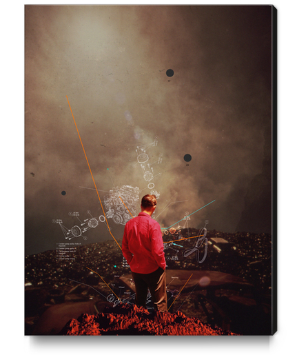 Weighing My Chances To Return Canvas Print by Frank Moth